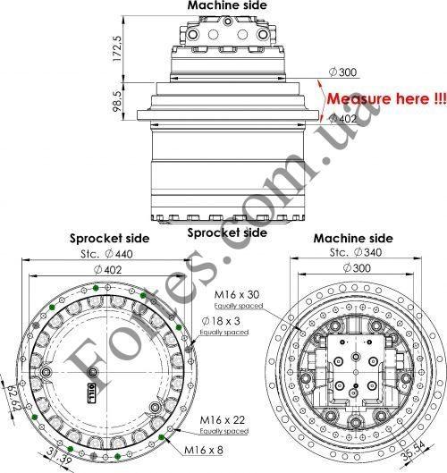 Редуктор ходу екскаватора Volvo EC240